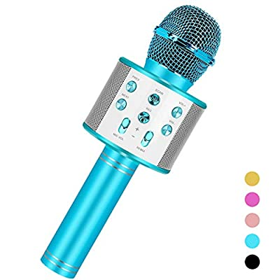Niskite Toys for 5 6 7 8 Years Old Girls Gifts, Wireless Bluetooth Karoake Microphone for Kids Age 4-16,Best Fun Popular Birthday Gifts for 9 10 11 12 13 14 15 Years Teens Girl Boys from Niskite