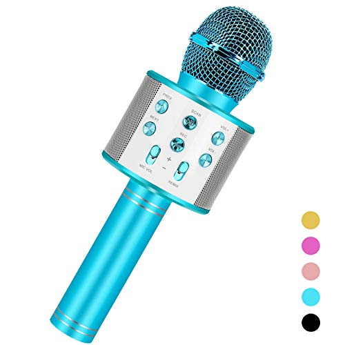 Niskite Fun Toys for 4-15 Year Old Girls, Handheld Karaoke Microphone for Kids Age 7-14,Birthday Gifts for 8 9 10 11 Years Old Boys Girls Blue