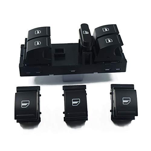 BotóN De Interruptor De Coche Ventana Interruptor Set/Ajuste for Volkswagen/Ajuste for Jetta/Fit for el Golf/Ajuste for Touran/Ajuste for Tiguan/Ajuste for Caddie/Ajuste for Passat