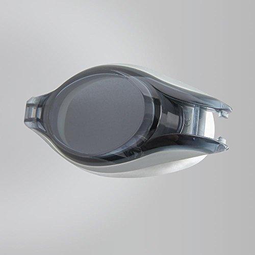 Speedo Pulse Optical Lens, Lenti per Occhialini Unisex-Adulto, Argento/Grigio Fumo, -4.0