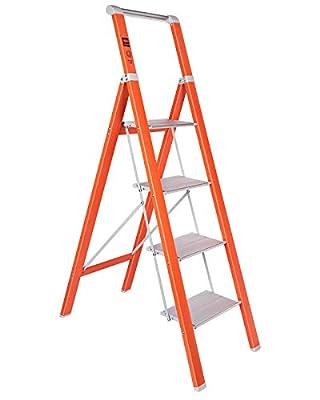 MECHREVO 4 Step Ladder, 5 Ft Portable Lightweight Aluminum Ladder, 330lbs Capacity, Easy to Store