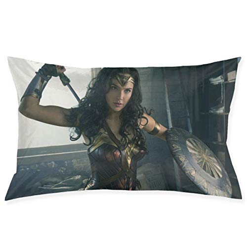 Uizhaic Wonder Women Pillow Case 20Inch X 30Inch(50CM X 75CM), Room Sofa Car Pillow Case Cushion Cover Square Pillows