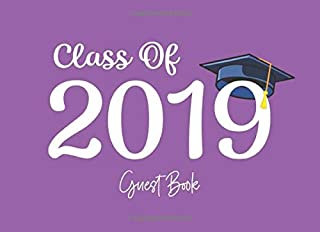 Class of 2019 Guest Book: Graduation Party Guestbook for Guests to Leave Messages - Purple (Grad Memory Keepsake - Solid Colors)