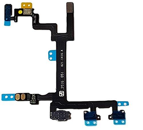 Smartex Cable Interior por Boton de Encendido Compatible con iPhone 5 – Conector Flex para Power ON Off, Volumen, Mudo, Sensor de Luz e Proximidad
