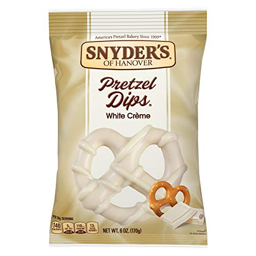 Snyder's of Hanover Pretzel Dips Made with Hershey's White Creme 6 Oz (Pack of 2)