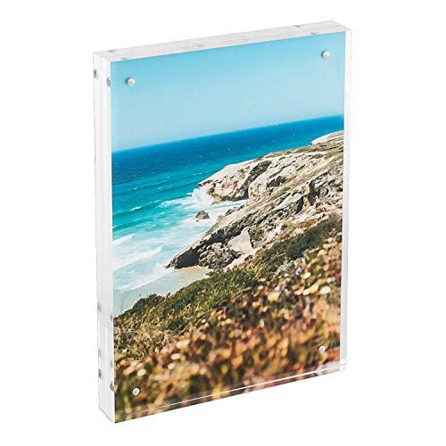 HMF 46973 Magnetischer Bilderrahmen aus Acrylglas   15 x 21 cm   Transparent