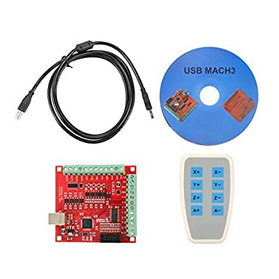 Motion Control Card,USB Breakout Board,USB MACH3 100Khz Motion Controller Card Breakout Board, CNC Breakout Interface Board for CNC Engraving