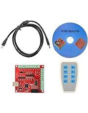 Bewinner Tarjeta Controladora CNC USB, Conexión De 4 Ejes, 4 Entradas para Uso General e Interfaz De Salida, Interruptores De Límite, Kit De Lectura De LCD Digital Precisa 0-200 Mm para Fresadoras