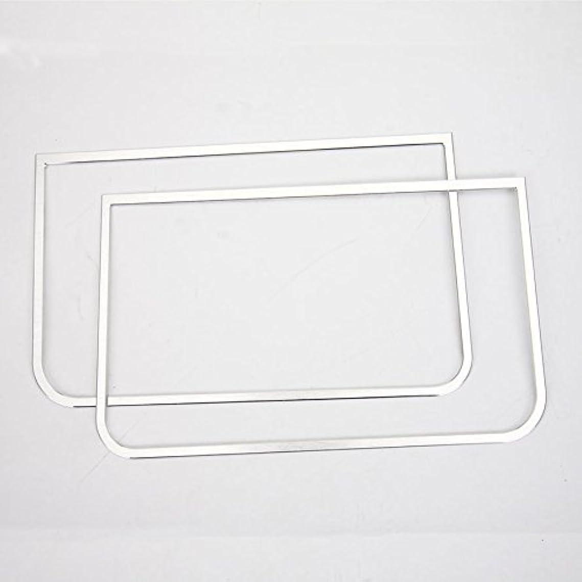 未亡人試してみるツールJicorzo - Car Styling Dashboard Sound Speaker Cover Trim Interior Decor Frame Molding Chrome ABS Sticker For Jeep Wrangler JK 2011-2016 [Silver]