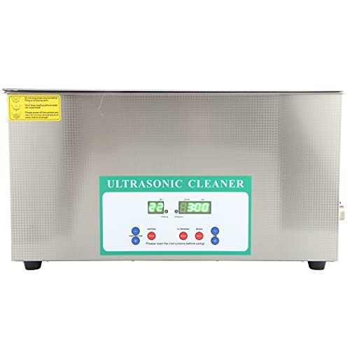 22L 480W Limpiador ultrasónico Temporizador Lavadora de ultrasonido Máquina de limpieza de baño de tanque ultrasónico(EU plug)