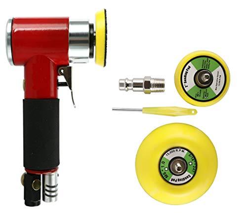 FreeTec - Amoladora excéntrica (aire comprimido, amoladora de ángulo, lijadora con disco de lijado de 50 mm y 75 mm)