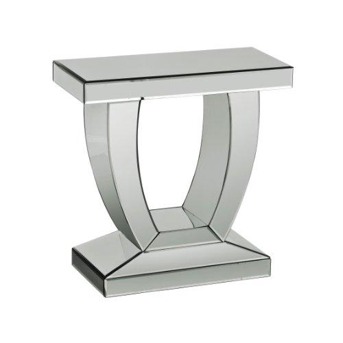 Premier Housewares 2402242 Tavolino Specchiato,61x60x29 cm