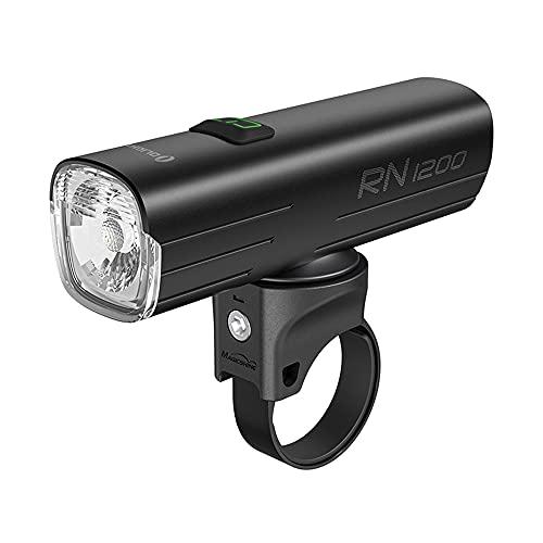 OLIGHT RN 1200 LED Faro de bicicleta Recargable USB, Anti-deslumbramiento Super Brillante 1200 Lúmenes 146Metros, Luz bicicleta delantera con Batería 4000mAh 21700, 5 Modos, Resistente al agua IPX7