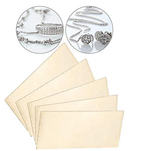 Silberblatt, 5 Stück 65% Silber, Lötplatte, Schmuck Schweißklinge, Werkzeug Lötteile, 1,57 x 1,9 x 0,7 cm