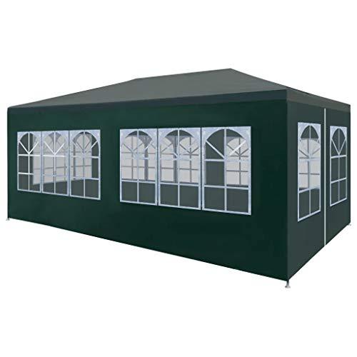 Cikonielf Tienda de Campaña para Fiesta Plegable 6 x 3M Resistente a los Rayos UV y al Agua, Carpa Pabellón de Jardín Carpa de Fiesta Elegante para Jardín Verde
