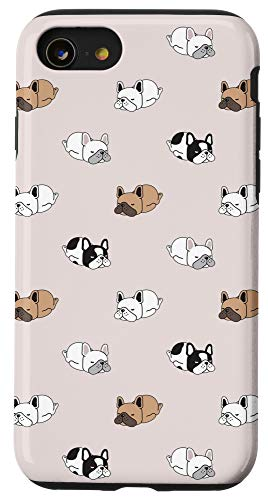 iPhone SE (2020) / 7 / 8 Funny French Bulldog Pattern Cute Frenchie Dog Mom Dog Case