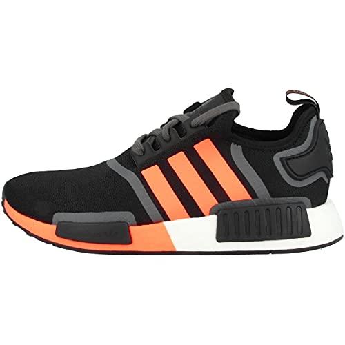 adidas Zapatillas bajas NMD_R1 para hombre, Core Black Screaming Orange Grey Five G55575, 42 2/3 EU