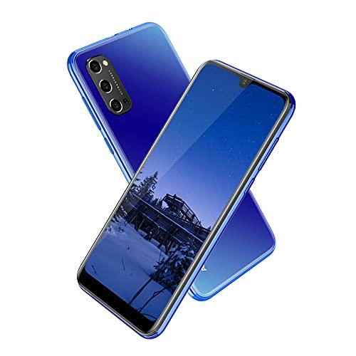 Smartphone Débloqué 4G, Téléphone Portable Pas Cher Écran Waterdrop 6.3 Pouces, Android 9.0, 3Go RAM + 32Go ROM, 4600mAh,5MP+ 8MP,Telephone Mobile Face ID/GPS/Dual SIM (Fente 3 en 1) -Bleu
