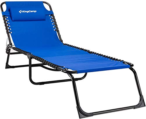 KingCamp Patio Lounge Chair 3 Reclining Positions Steel Frame 600D Oxford