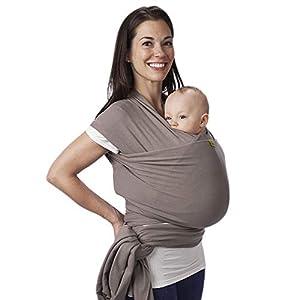 Boba Wrap, Fular Elástico Portabebé Ergonómico - Ideal Porteo Recién Nacidos (Grey)