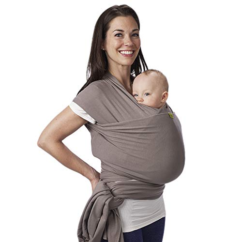 Boba Wrap Baby Carrier Grey  Original Stretchy Infant Sling Perfect for Newborn Babies and Children up to 35 lbs