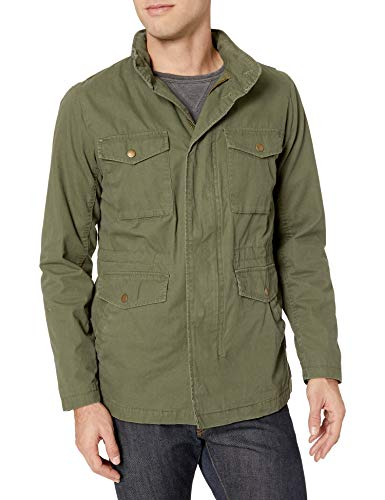 Amazon Essentials Men's Utility Jacket, Olive, Medium