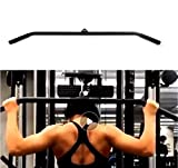 Home Gyms Fitness Tricep Press Down Bar LAT Pulldown Bar Handle Attachment for Pulley System Cable...