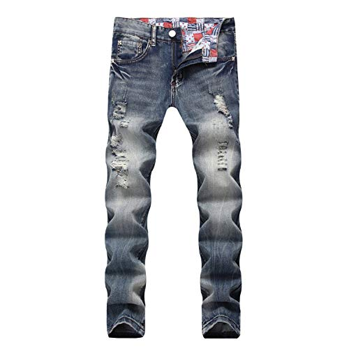 TYADERTY Mens Jeans Heavy Duty Basic Straight Leg Slim Fit Stretchable Denim Jeans Pants All Waist, 30