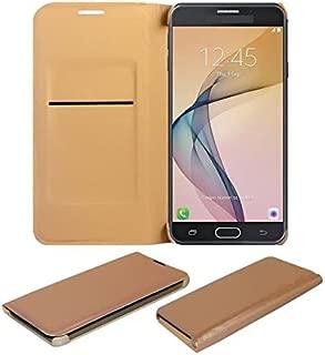 COVERNEW Flip Cover for Samsung Galaxy J5 Prime::Samsung Galaxy J5Prime - Golden LeathersFlippSamsungJ5PrimeGolden