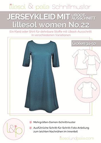 Lillesol & Pelle Schnittmuster women No22 Kleid mit Uboot-Ausschnitt Papierschnittmuster
