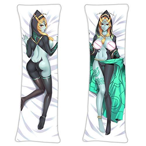 Twilight Princess Midna The Legend of Zelda Midona Zierkissenbezüge Umarmungskissen Kissenbezug Figuren Dekokissen Dekoration(2 Way Tricot) 160 x 50cm(62.9in x 19.6in)