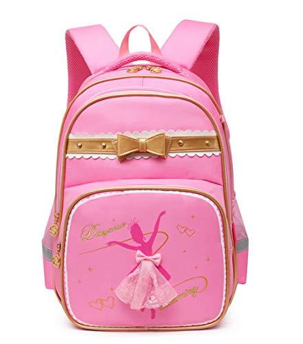 DiTeYaNuo Kinder Schulrucksack Ballett Rucksack Girl School Bag Freitzeit Tasche Sport Kindertasche-Rosa