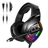 High precision 50mm magnetic neodymium driver provides you a vivid sound field as if you were truly in the game scene with clear and deep bass stereo sound quality In-line controls with rotary volume controller and key microphone mute effectively pre...
