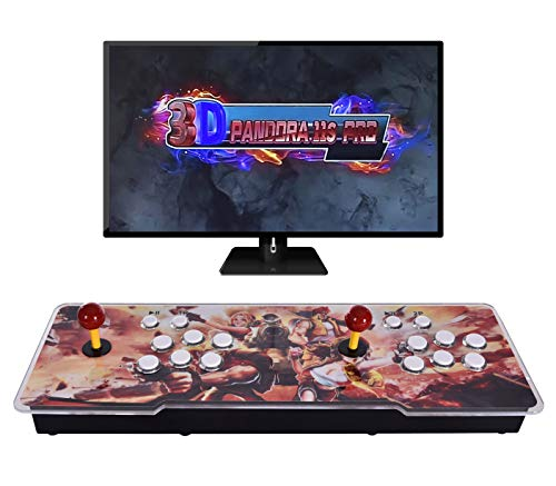 Ai CAR FUN [3399 Games in 1] Arcade Game Console 11S Full HD Retro Video Arcade Game Console 2 Players 3D Pandora's Box with 3399 Retro Games for PC/Laptop/TV/PS3