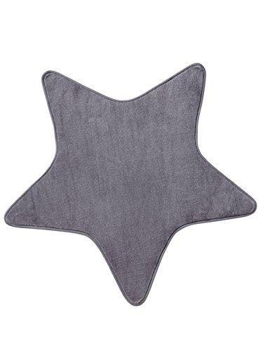 Vertbaudet Teppich in Sternform für Kinderzimmer grau ONE Size