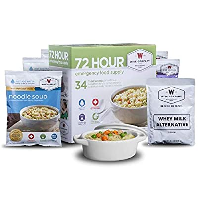 Wise Company, Emergency Freeze-Dried Food and Drink Supply, 72 Hour Variety, 34 Servings - Disaster Preparedness by Wise Foods
