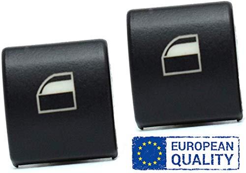 AutoFullCar - Reemplazo Botónes elevalunas ventanilla Derecha e Izquierda (Dos Piezas) Serie 3 E46 X3 X7