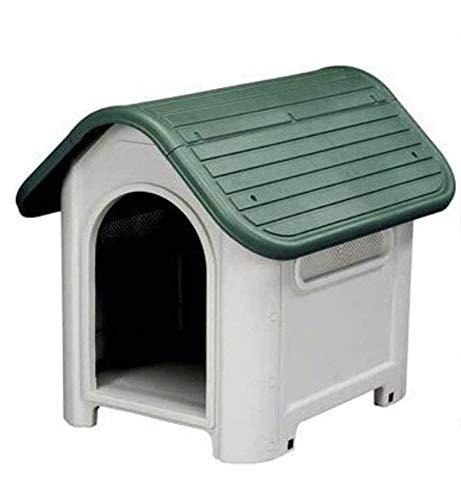 domus Cuccia per Cani in Resina PLASTICA Verde Taglia Grande Large 87X72XH75 CM