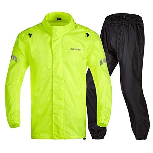 GUJOJO Heavyweight Waterproof Jacket/Trouser Suit Adult Windproof Coat/Pants Set(Size:L)