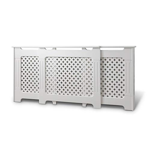 Laura James Radiator Cover Cabinet White Painted AdjustableTraditional (adjustable)