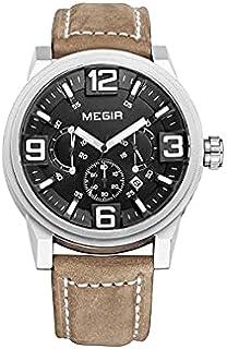 Megir Casual Watch For Men - Leather, ML3010GBN-1