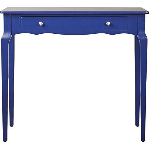 roombird Telefontisch Konsolentisch Bonamy dunkelblau mit Schublade