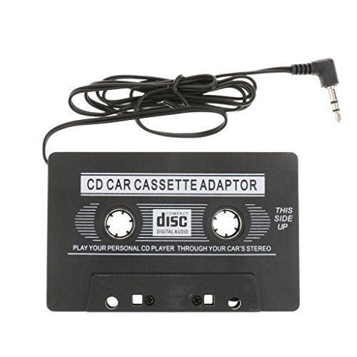 Sharplace 3.5mm Auto Audio Trasmettitori Adattatore A Cassetta Aux Per Telefono MP3 Nero