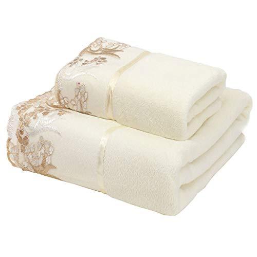 NYKK Guantes exfoliantes Toallas de baño Toalla Adultas Acolchado Hojas absorbentes súper Toalla Suave Home Hotel Baño Toalla Wrap Esponja de Ducha (Color : F)