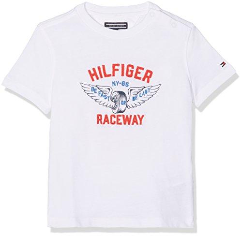 Tommy Hilfiger Raceway Applique tee S/S Camiseta para Niños