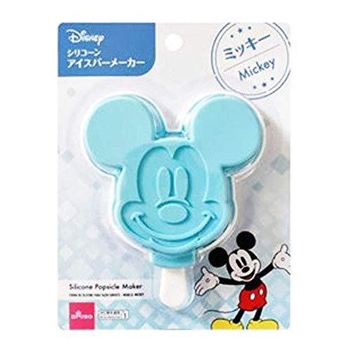 Daiso Molde de silicona para helado, diseño de Mickey de Disney, color azul