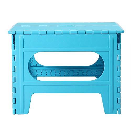 Portable vierkante tafel 55 * 51,5 * 40 cm, kindermeubilair Plastic vierkante frosted antislip klaptafel (blauw)