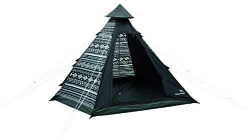 Easy Camp Tente tipi Noir Tribal Black/White 4 Personnes