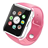 Mobielectrocart Smart Watch A1 Bluetooth Smartwatch Compatible with All Mobile Phones for Boys and Girls (Pink)