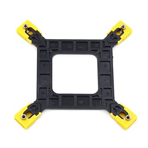 GENNEL Soporte de montaje ajustable Intel 775 115X 1366 para PC CPU Cooler Holder Base, Radiador placa posterior